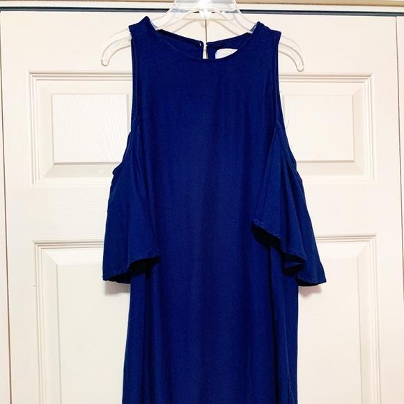 Blue off the shoulder Mini Dress